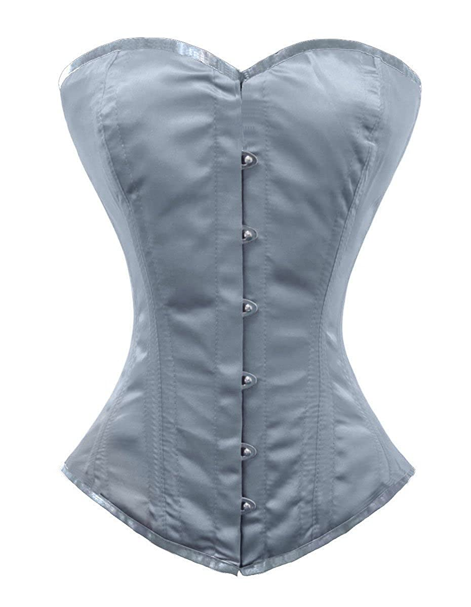 luvsecretlingerie 26 Double Steel Boned Waist Training Satin Overbust Corset