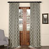 Cheap HPD HALF PRICE DRAPES Half Price Drapes PRCT-D05-108 Aiden Gray Printed Cotton Curtain, 50″ x 108″, Grey