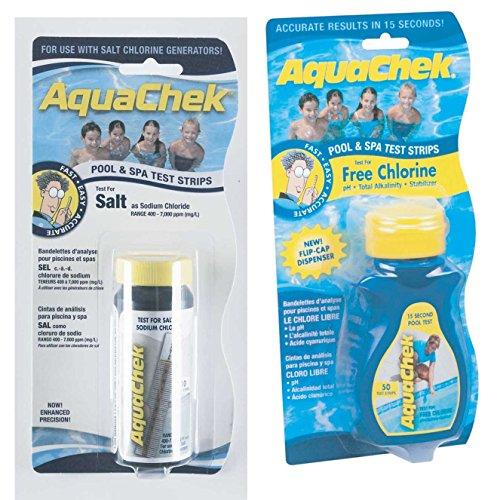 (Hach Company New Aquachek Yellow Free Chlorine Test Strips & Salt Value Pak)