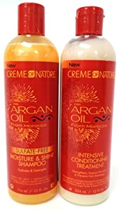 Creme Of Nature Argan Oil Conditioner Intense Treatment 12 Ounce (354ml) (2 Pack)