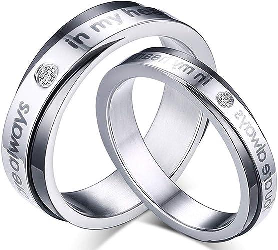 Wedding Jewelry Women Mens Ring Set Couple Rings His /& Her Steel Titanium