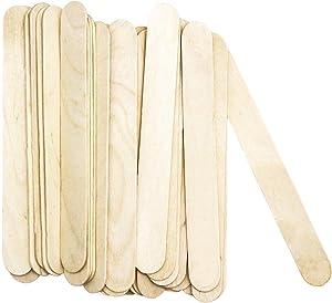 Amkoskr Natural Jumbo Craft Sticks 8