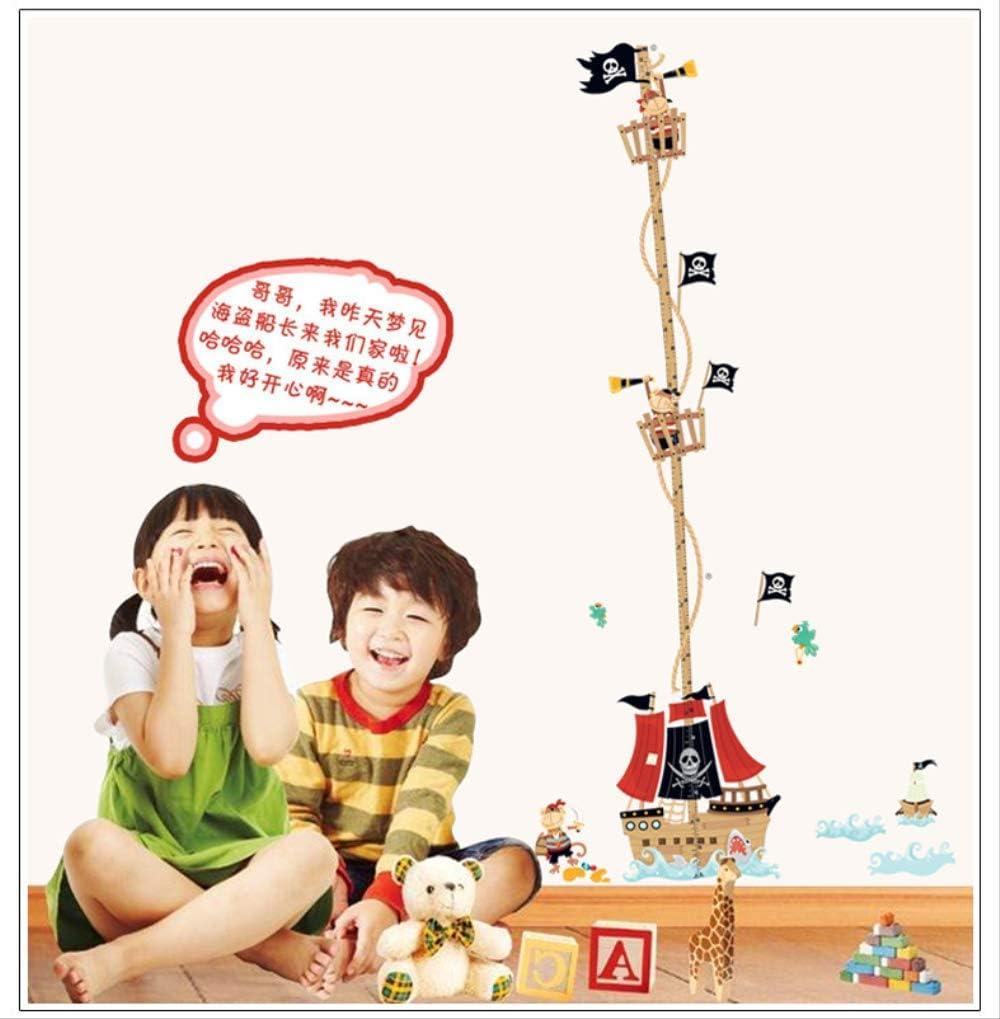 LWJZQT Stickers muraux Oc/éan Bateau Pirate Enfant Croissance Mesure Hauteur Autocollants Muraux Chambre De B/éb/é D/écoration Hauteur Croissance Tableau Autocollant