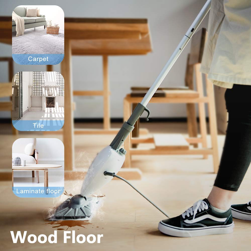 Simpli-Magic 79153 5 in 1 Steam Mop Floor Steamer - Ideal for Cleaning Tile Grout Laminate Hardwood and Carpets, Professional Use by Simpli-Magic (Image #3)