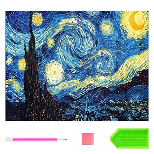 Starry Night 5D Diamond Painting Embroidery DIY Diamond Painting Kit 20X16 Inch for living room Home Wall Decoration -