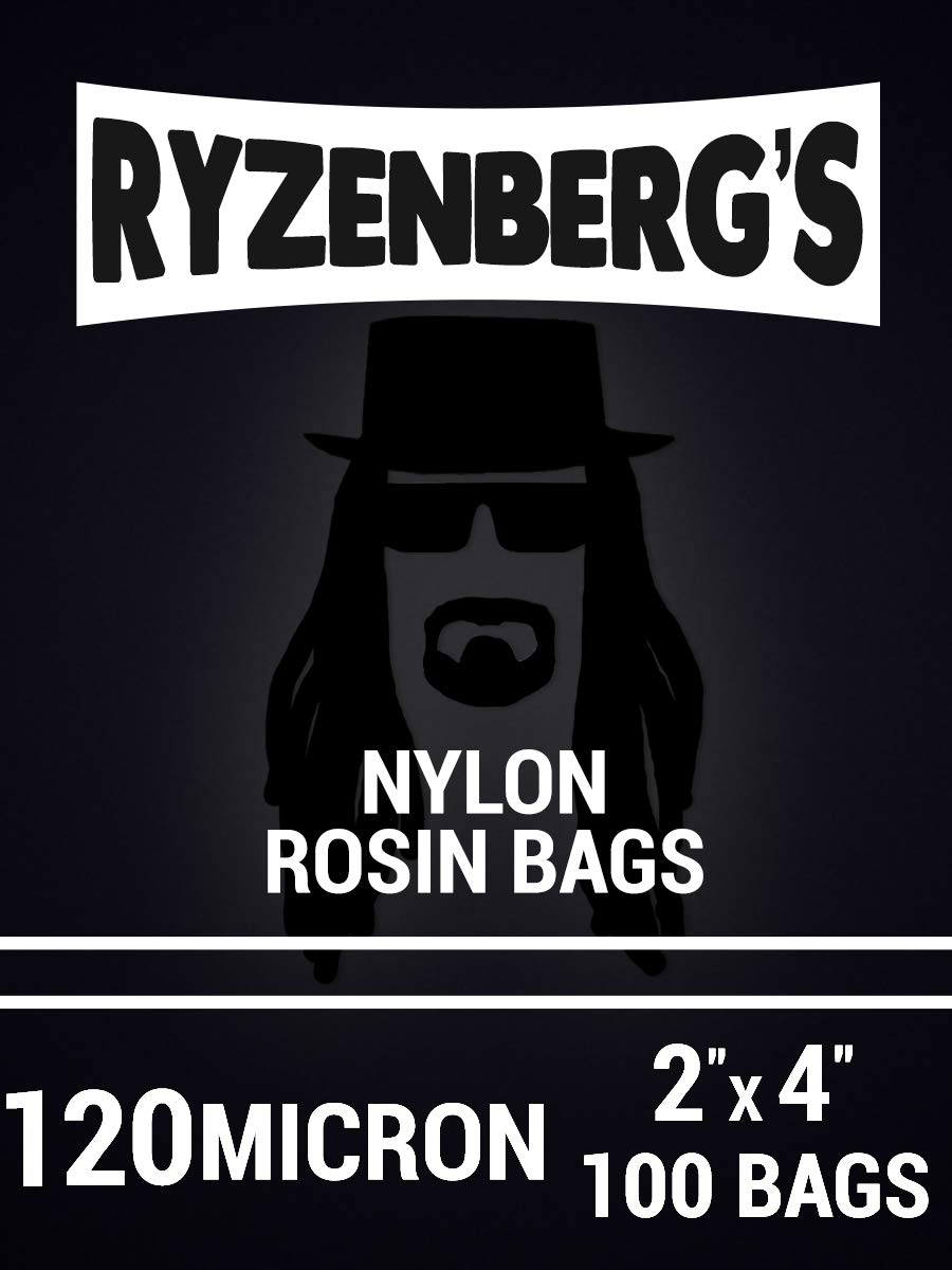 Rosin Press Bags/Rosin Filters (120 Micron/120u) 2'' x 4'' Inch (100 Pack) By Ryzenberg's by Ryzenberg Products