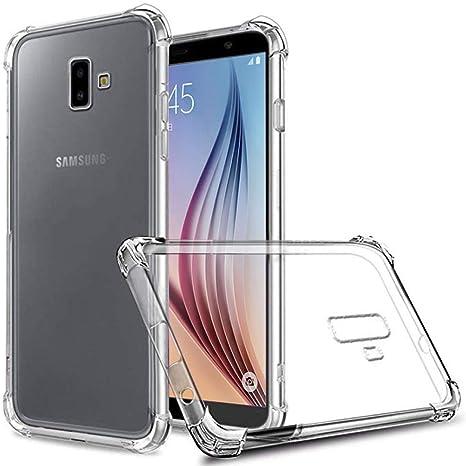 ZealBea Focus Funda Samsung Galaxy J6 Plus, Carcasa Protectora Suave de TPU Estuche Cristalino Flexible con Absorción de Impacto/Antideslizante para Samsung Galaxy J6+ 2018 (Transparente): Amazon.es: Electrónica