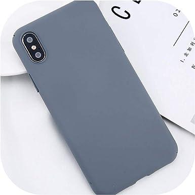 para iPhone X X MAX XR 8 7 Llana Simple teléfono Caja Delgada de ...
