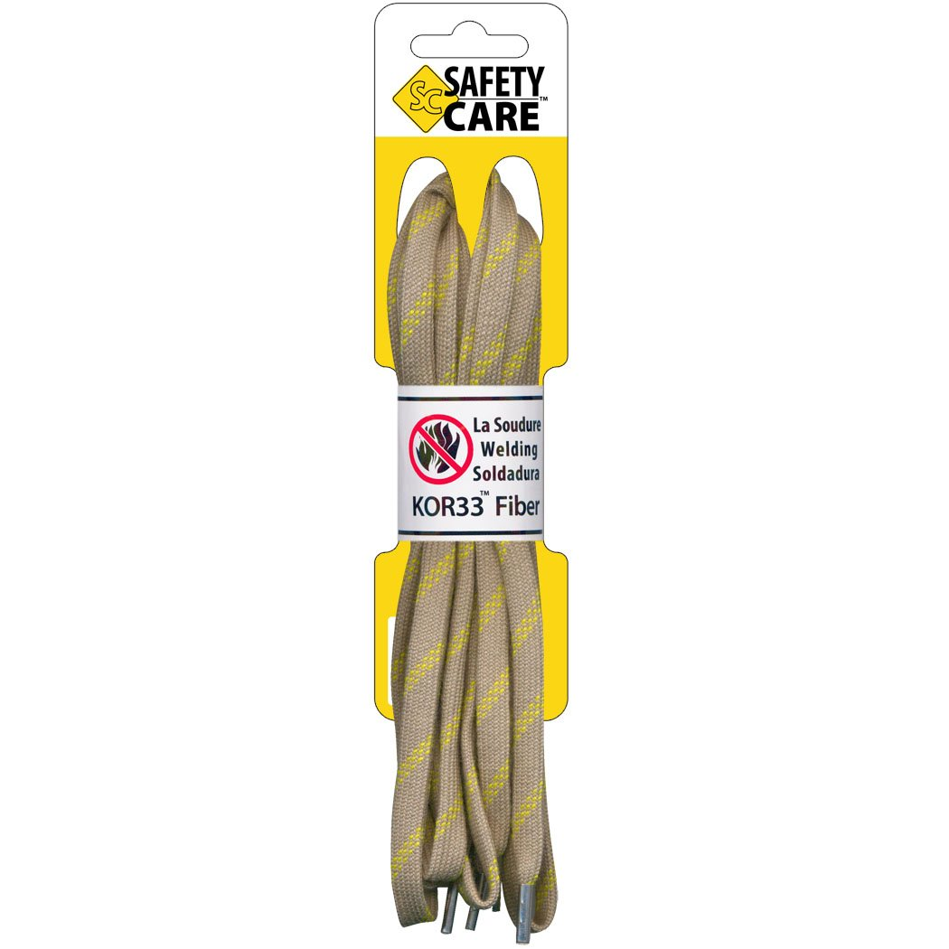 SafetyCare Fire Retardant Metal-Tip Boot & Shoe Laces