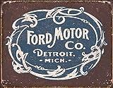 "Ford Historic Logo Metal Tin Sign 16"" X 12.5"""