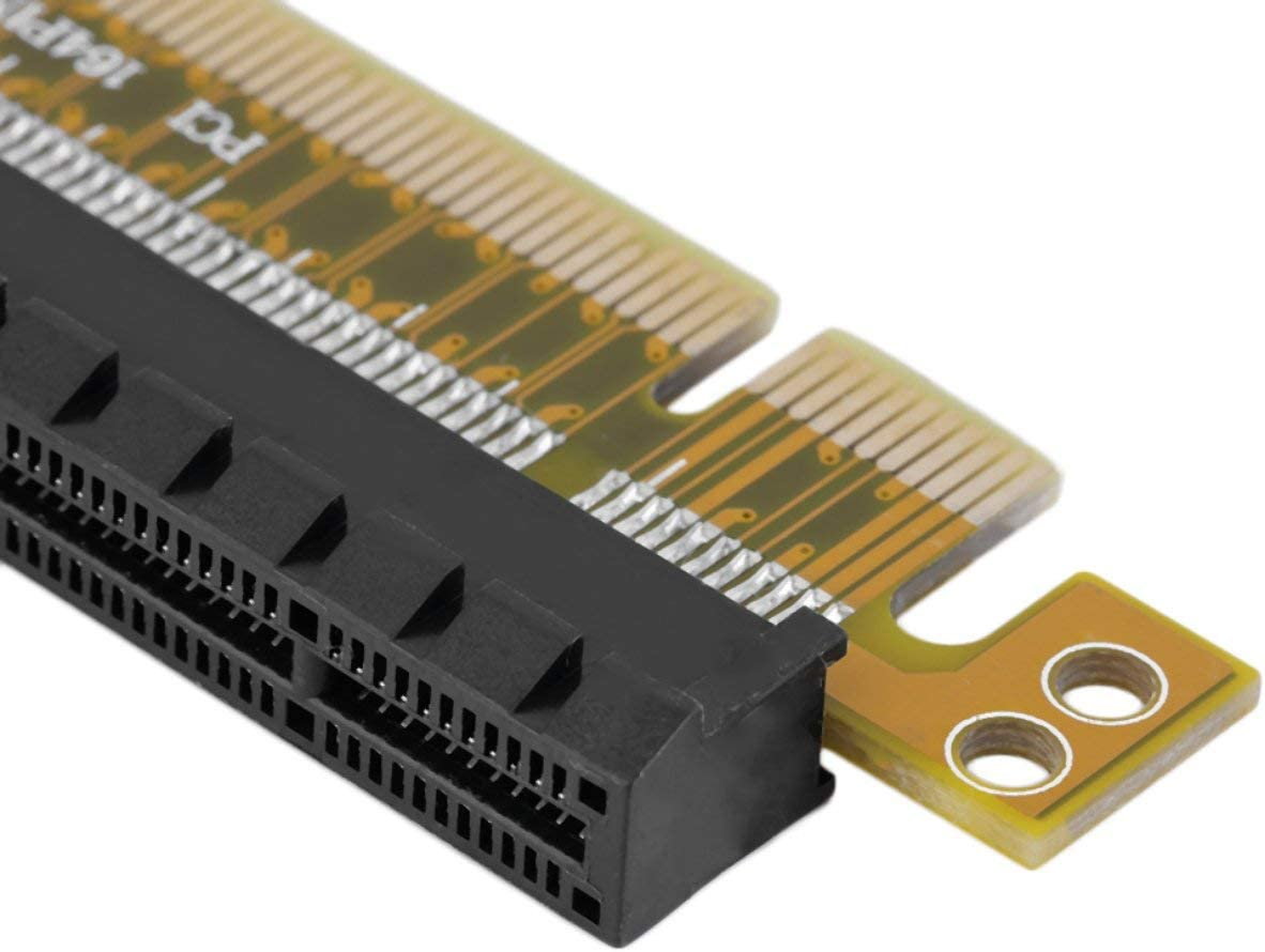 Detectorcatty PCI-E Express 8X to 16X Durable Adapter Riser Card Without Extended Cable Hot