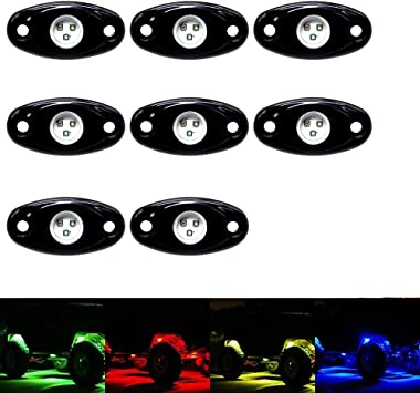 Bluetooth Rock Light Pods with 3-IN-1 Smart LEDs 16 Million Color Music /& Switch