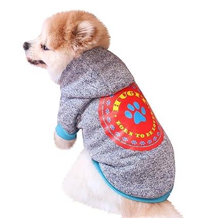 e06f0131ed3 Amazon.com : Elogoog Pet Clothes, Puppy Hoodie Sweater Dog Coat Warm ...