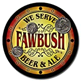 Fawbush Family Name Beer and Ale Rubber Drink Coasters - Set of 4 offers