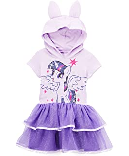 c81180e96 Amazon.com: My Little Pony Girls' Dress with Ruffles and Wings: Clothing