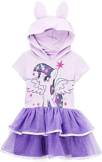 My Little Pony Girls LJSTE43-5T56 Twilight Sparkle Toddler Girls' Costume Ruffle Dress Short Sleeve Casual Dress - Purple