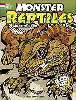 monster reptiles a close up coloring book dover nature coloring book