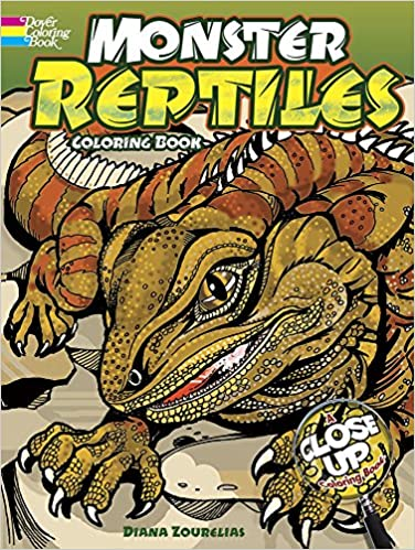 Monster Reptiles: A Close-Up Coloring Book (Dover Nature Coloring ...