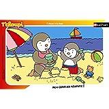 Nathan - 86096 - Puzzle Enfant avec cadre - T'Choupi à la Plage - 15 Pièces