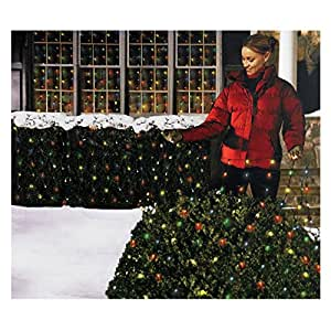 holiday essentials 150 net lights multi color bulbs with green wire indoor outdoor