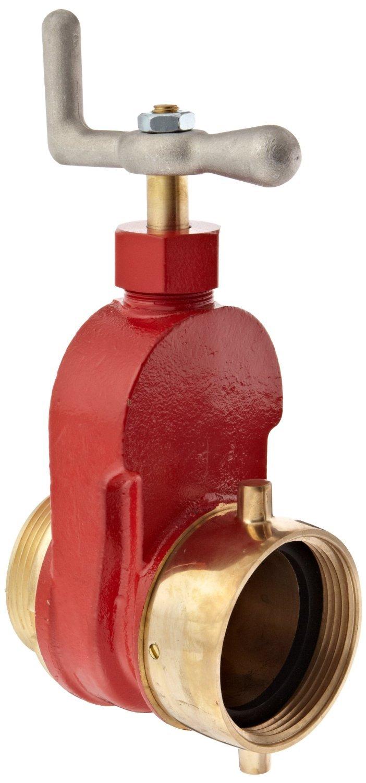Dixon HGV250F Brass Single Hydrant Gate Valve, 2-1/2'' NST female x NST male