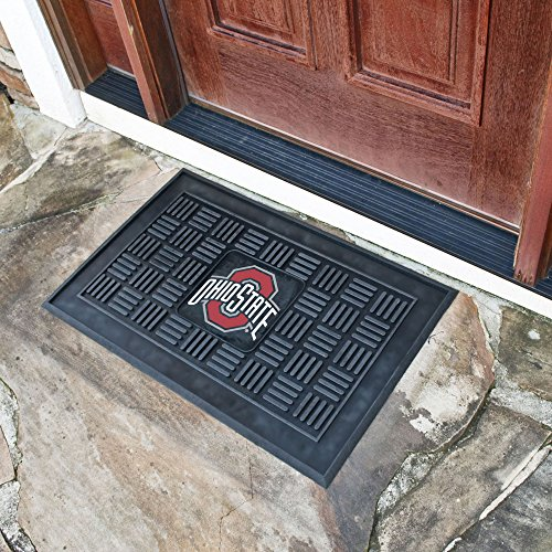 (FANMATS NCAA Ohio State University Buckeyes Vinyl Door Mat)