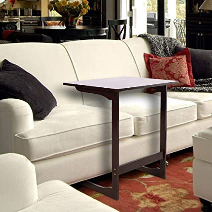 Merveilleux Modern Bamboo Sofa Side End Table Couch Coffee Tea Snack Work PC Computer  Laptop Table Desk
