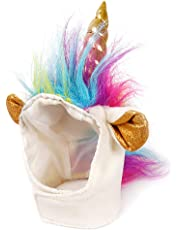 Unicorn Mane Hat Headgear for Small Dog and Cats, Pet Cosplay Costume for Halloween Christmas Easter Festival Party Activity