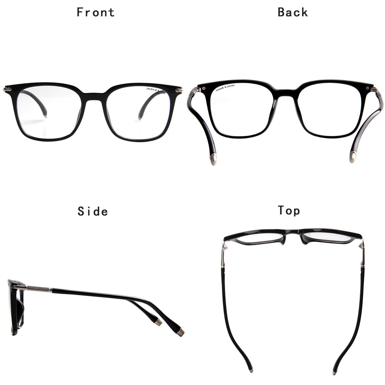 a34852e5587 Amazon.com  Jardin D amour Fashion Eyeglasses Non-Prescription Unisex Retro  Frame Clear Lens Glasses JA7206 BBK  Clothing