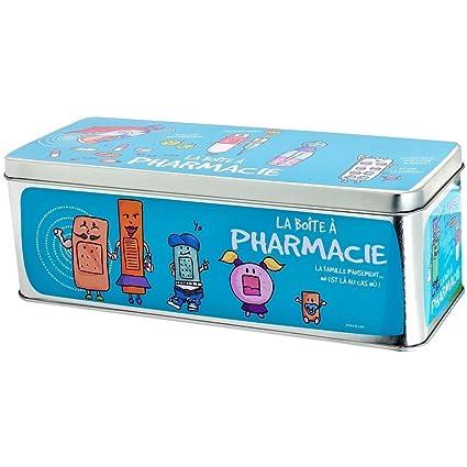 Scatole Derriere La Porte.Promobo Boite A Pharmacie Premiers Secours Pansements Infirmerie Picto Bleu