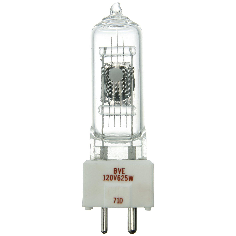Clear Sunshine Lighting Sunlite BVE 625W//T6//120V//CL//GX9.5 625-watt 120-volt Bi-Pin Based Stage and Studio T6 Bulb