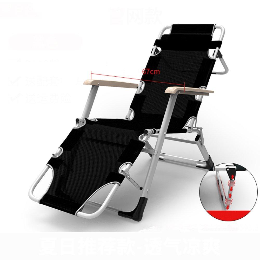L&J バルコニー ラウンジチェア, 安定 ポータブル 可能 折りたたみ椅子 ベッド プールラウンジャー, オフィス 庭 パティオ ビーチ 花火大会 屋外, 荷重 200 Kg を負荷します。 B07F58PC2V B B