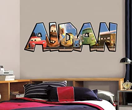 Amazon Com Cars Movie Personalized Name Decal Wall Sticker Home Art