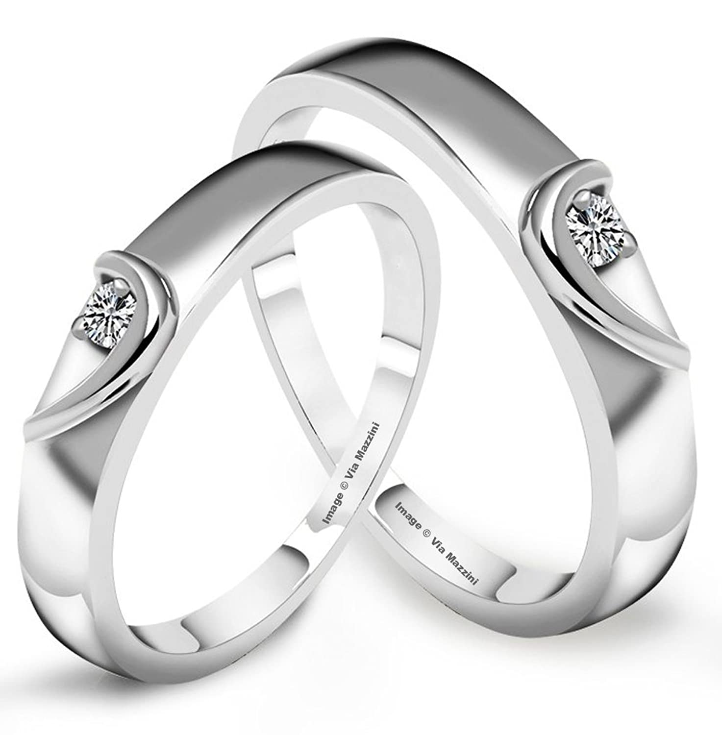 zircon x couple love rings endless diamond products endlesslove sterling heart silver