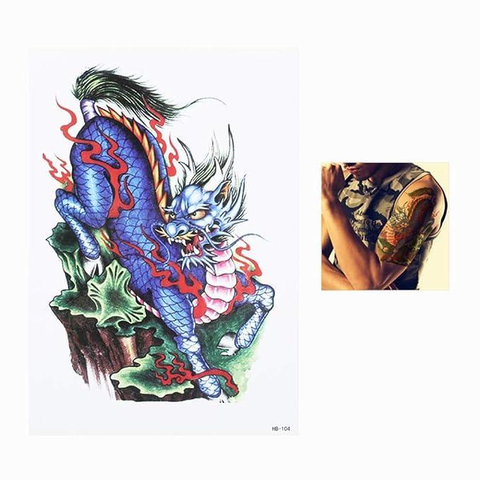 adgkitb 3 Piezas calcomanía Flor Espalda Arte Tatuaje Temporal ...