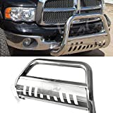 dodge ram push bar - Bull Bar Skid Plate Front Push Bumper Grille Guard Stainless Steel Chrome for 2006-2008 Dodge Ram 1500 Pickup Only