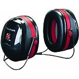 3M Peltor Optime III Kapselgehörschutz, Nackenbügel, SNR 35 dB, schwarz/rot