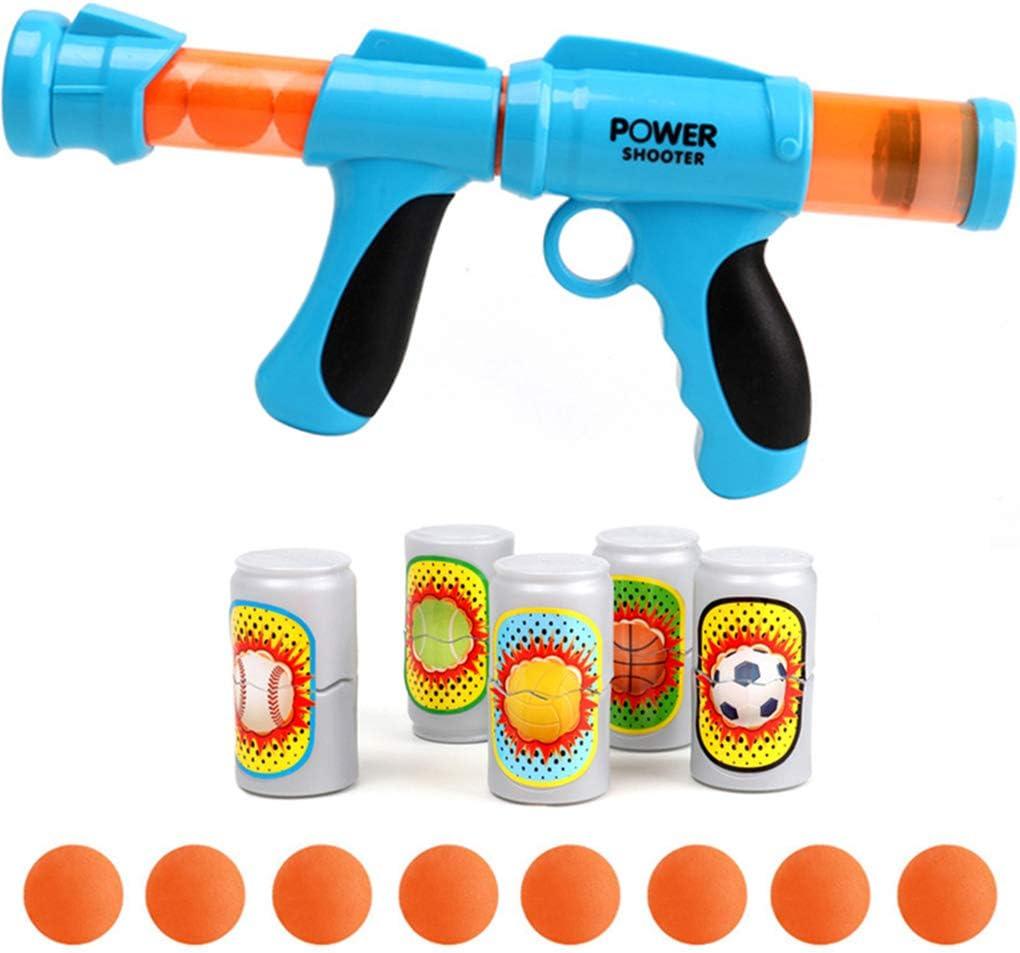 Yxiang El Juego de Juguetes para niños Viene con 8 Bolas de Espuma y 5 Botellas de Pistola de Ondas de Choque.