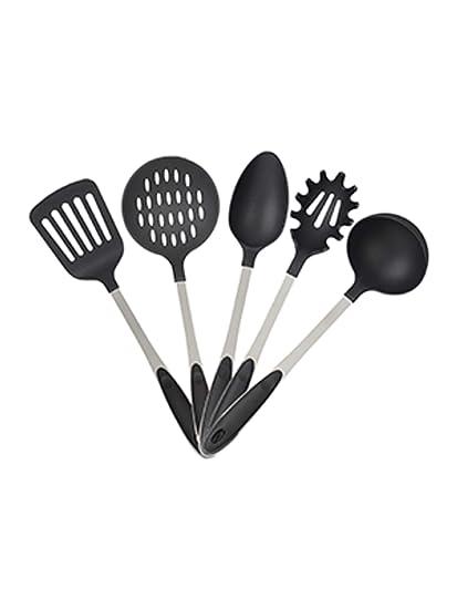 Relaxdays – Juego de cubertería (5, cucharón, cucharón, Cuchara de Pasta,