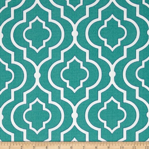 Swavelle/Mill Creek Indoor/Outdoor Starlet Teal Fabric By The Yard