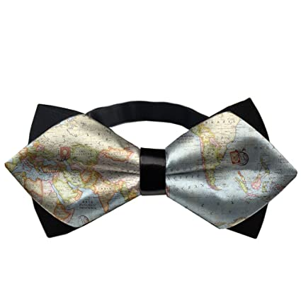 30aaa14d6f12 Amazon.com: YEAHSPACE Mens Formal Atlas World Map Banded Pre-tied Bow Ties:  Home & Kitchen