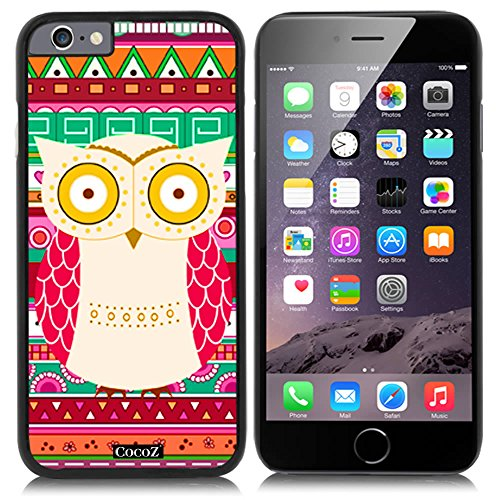 Price comparison product image New Apple iPhone 6 s 4.7-inch CocoZ® Case Aztec Tribal owl pretty interesting pattern PC Material Case (Black PC & cute owl 29)