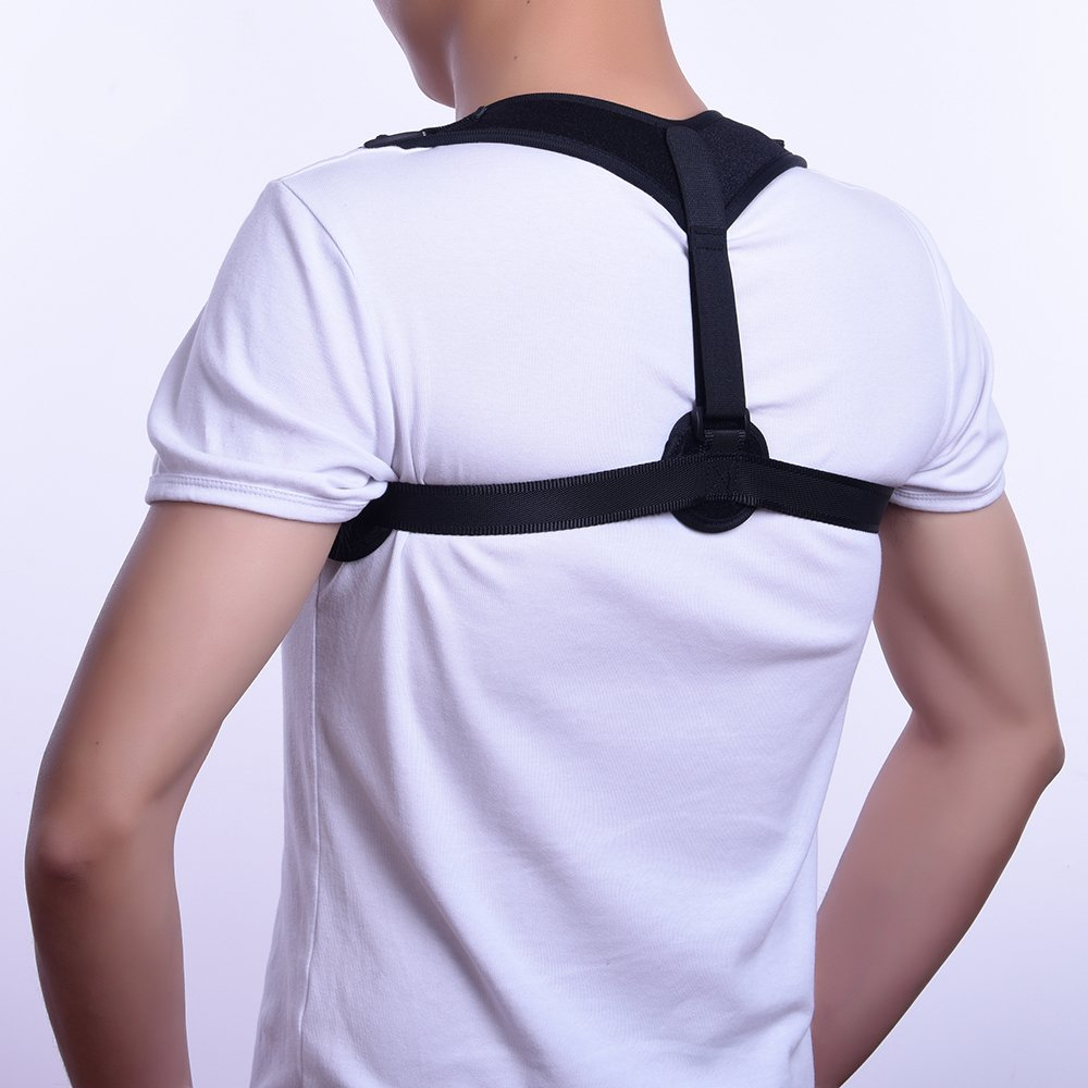 Solaray Back Posture Support Corrector – Neck and Spinal Clavicle Brace for Men and Women – Best Ergonomic Relief for Pain, Fracture, Scoliosis, Sports Injury and Home Office Use - Adjustable