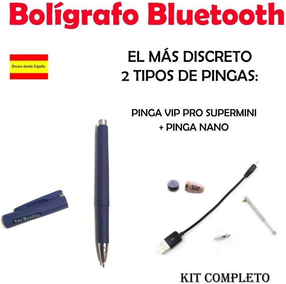 Bolígrafo Bluetooth + Pinga Vip Pro SuperMini KIT COMPLETO (Azul ...