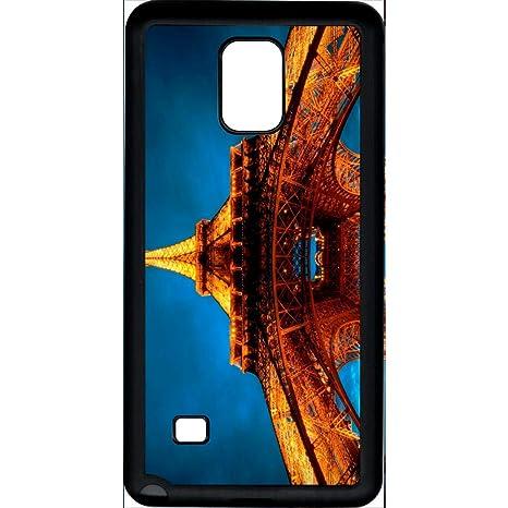 Carcasa Samsung Galaxy Note 4 Torre Eiffel en luz: Amazon.es ...