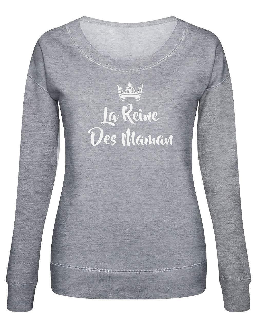 8a144af882f08 Fête des MèresSweatshirt Femme Green Turtle T-Shirts La Reine des Mamans  Fantaisie et Specialty