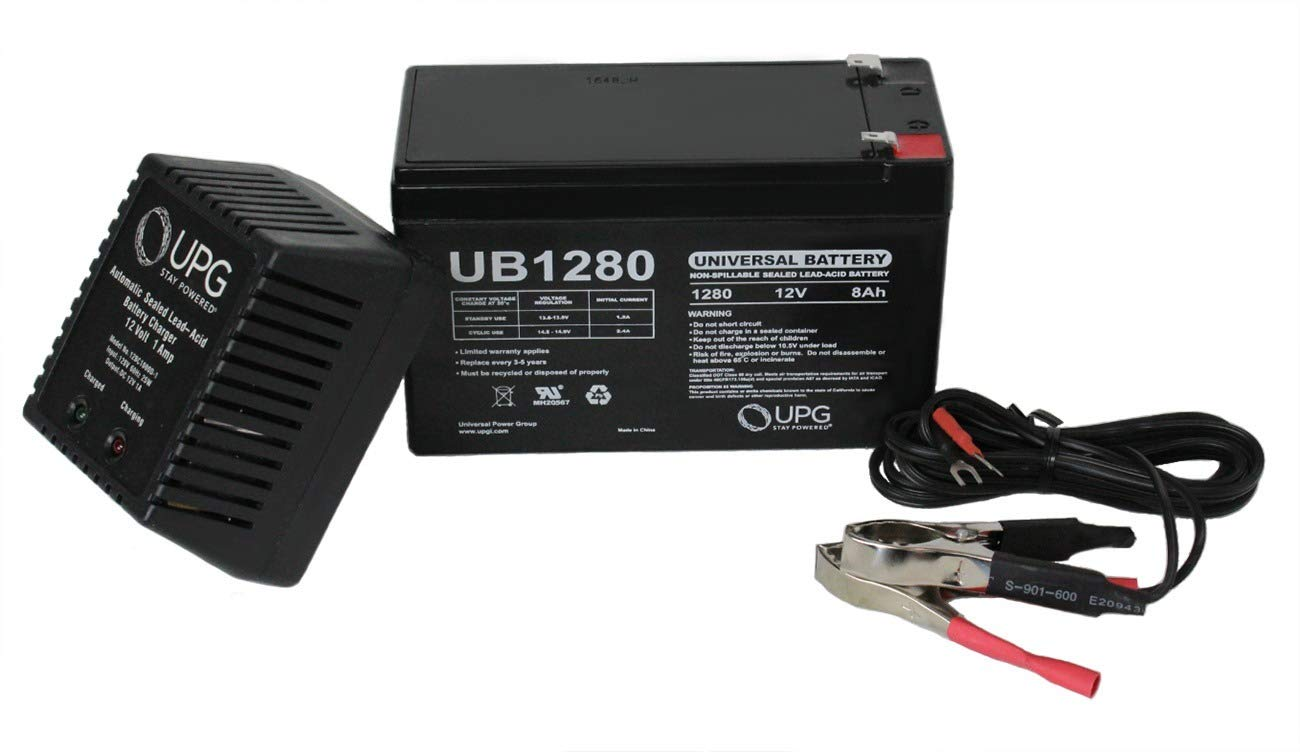 Universal Power Group 12V 8AH Replacement Battery for PEG PEREGO Slim - 12V 1AH Charger