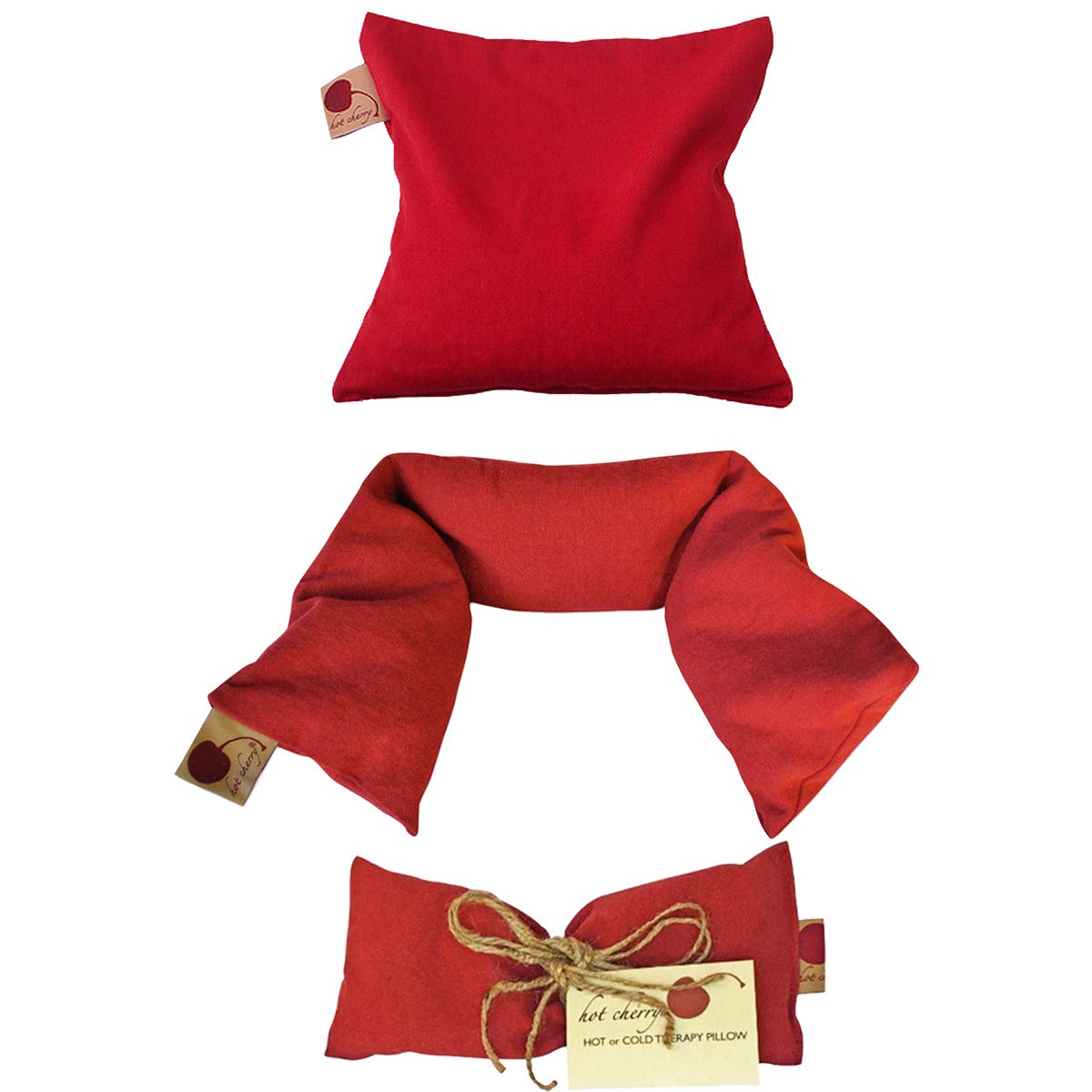 Hot Cherry Pit Pillow Holiday Gift Bundles (Feel Better Pack - Red Denim) 20% Off Individually Priced Items