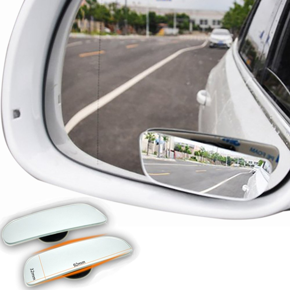 Blind Spot Mirrors, Stick-on Side Convex Mirror Rimless Design for All Car SUV Trucks Motorcycle 2pcs (Round) SHININGEYES GAOA1004-1