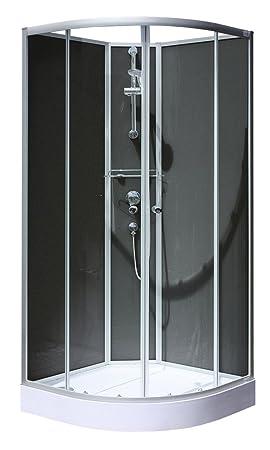 Siliconer Une Cabine De Douche.Schulte Cabine De Douche Complete Rimini Cabine De Douche Integrale Arrondie Noir 90x90 Cm
